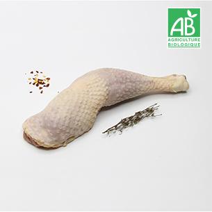 La cuisse de poulet déjointée bio